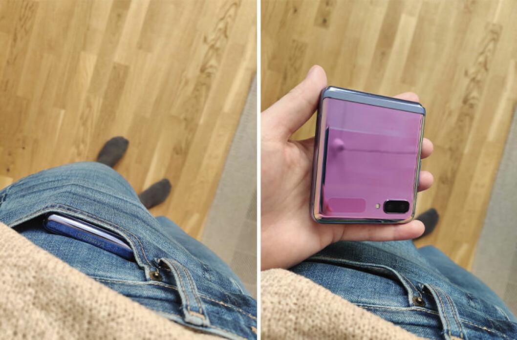 Samsung Galaxy Z Flip får plats i fickan
