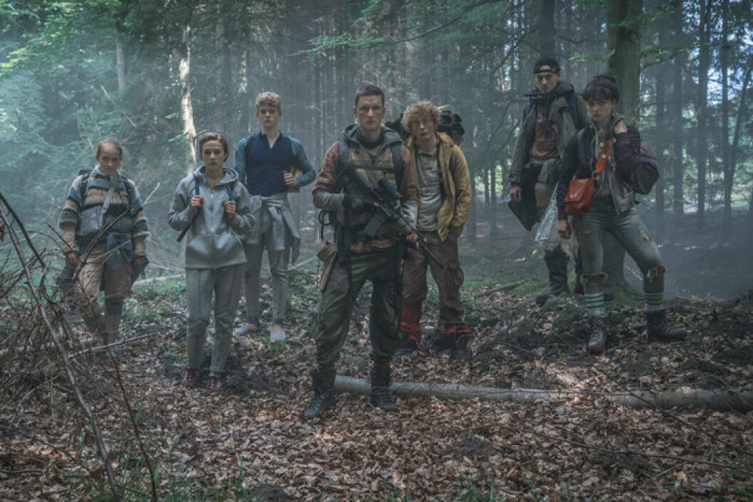 En bild från tv-serien The Rain på Netflix.