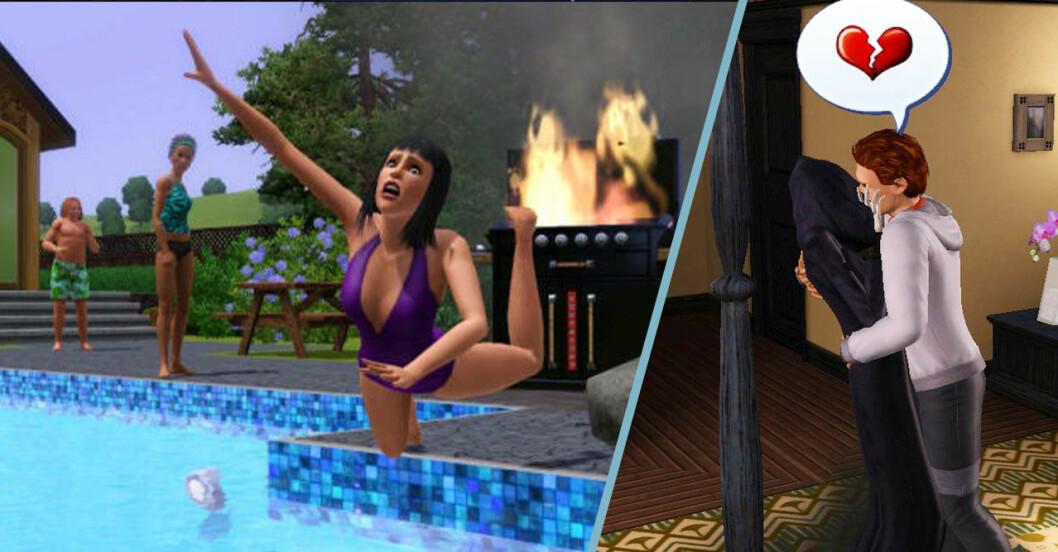 The Sims galna saker i spelet