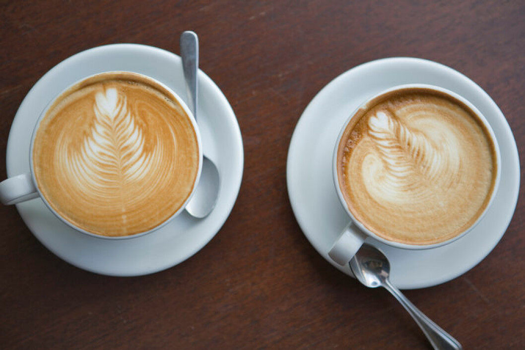Two Coffee Drinks from Above