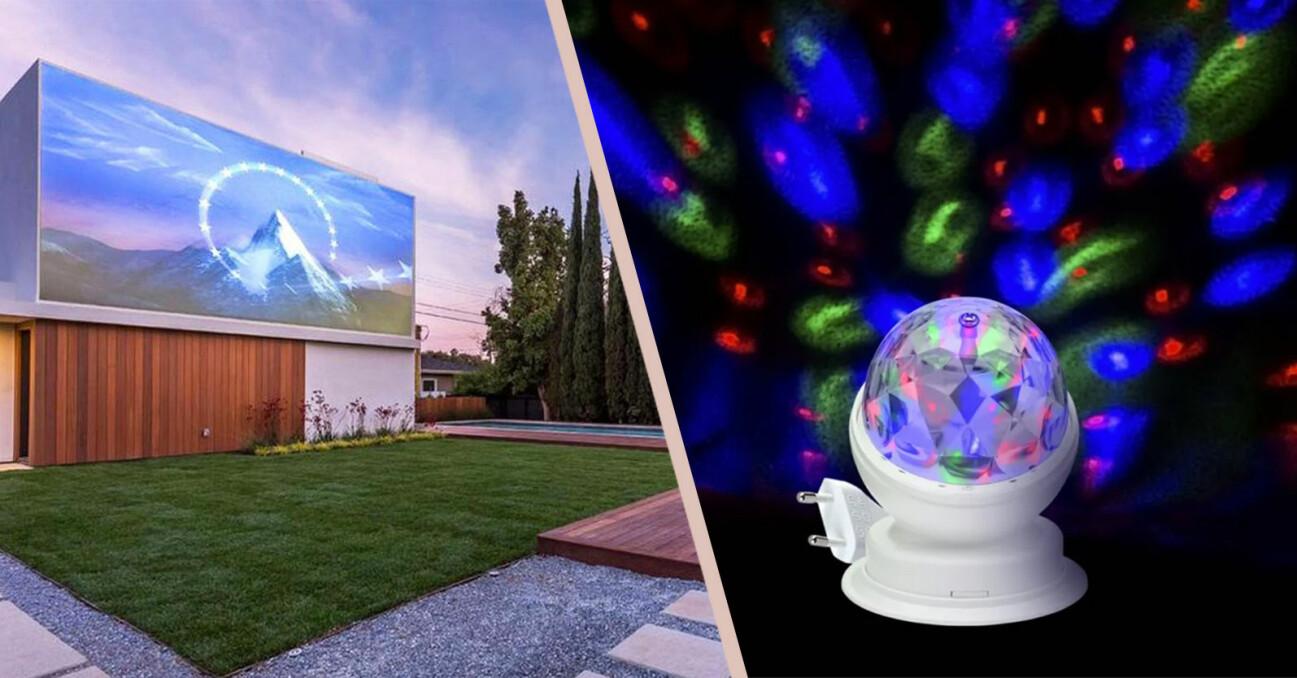 projektor och discolampa från Tiktok