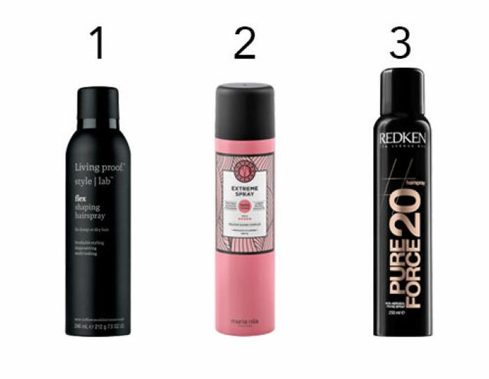 Tips på hårspray