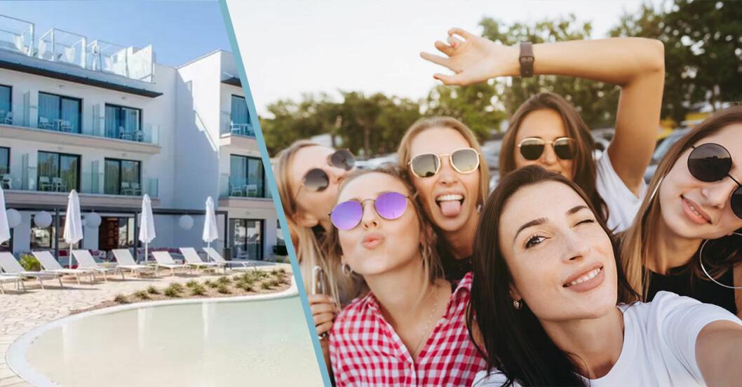 Tjejhotell för bara kvinnor i Spanien