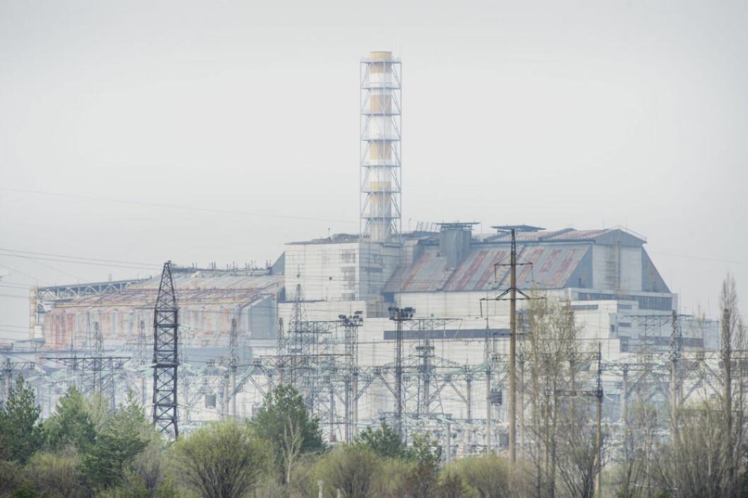 Kärnkraftsverket Tjernobyl utanför staden Pripjat.