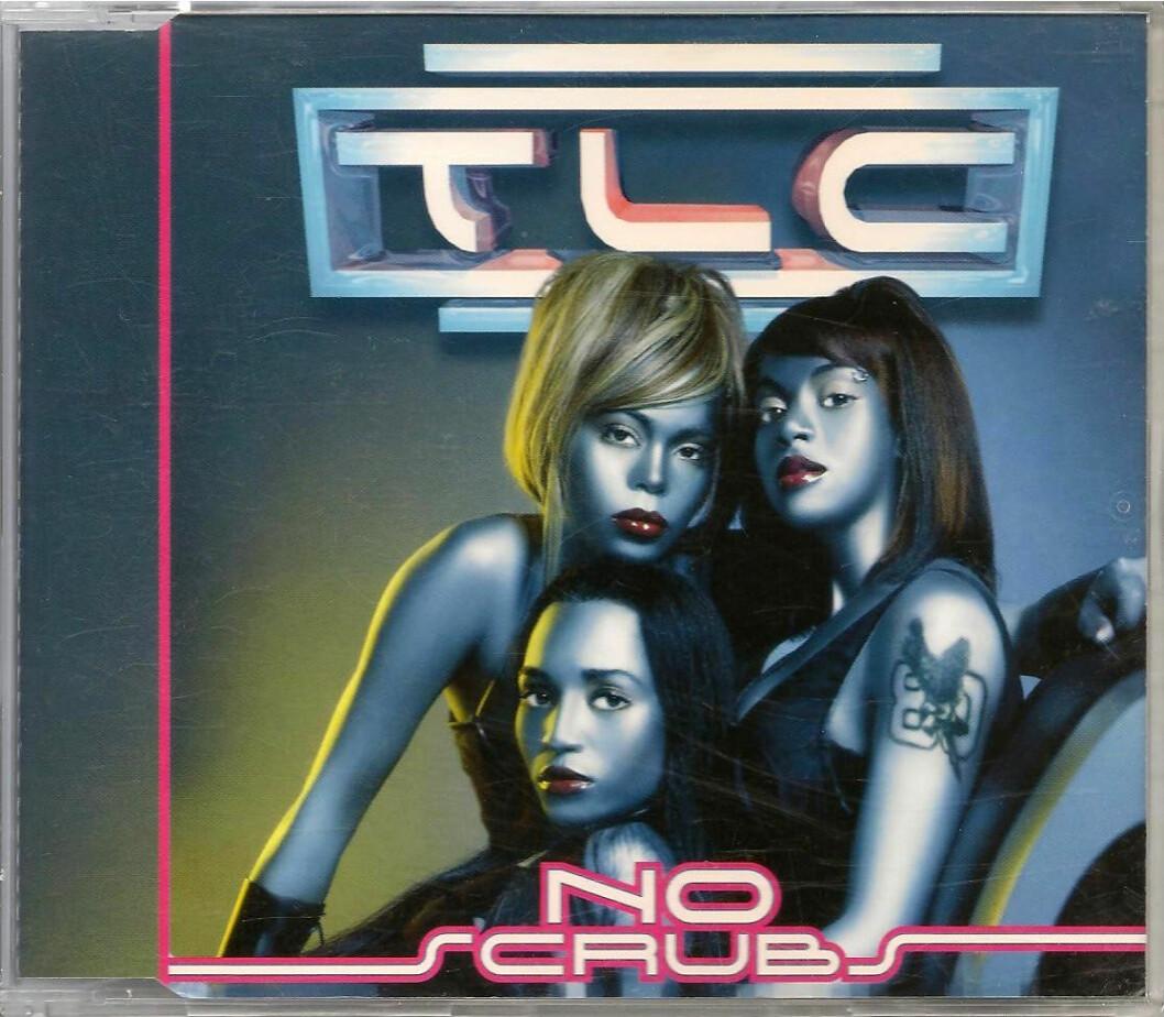 TLC med No Scrubs, singelomslag.