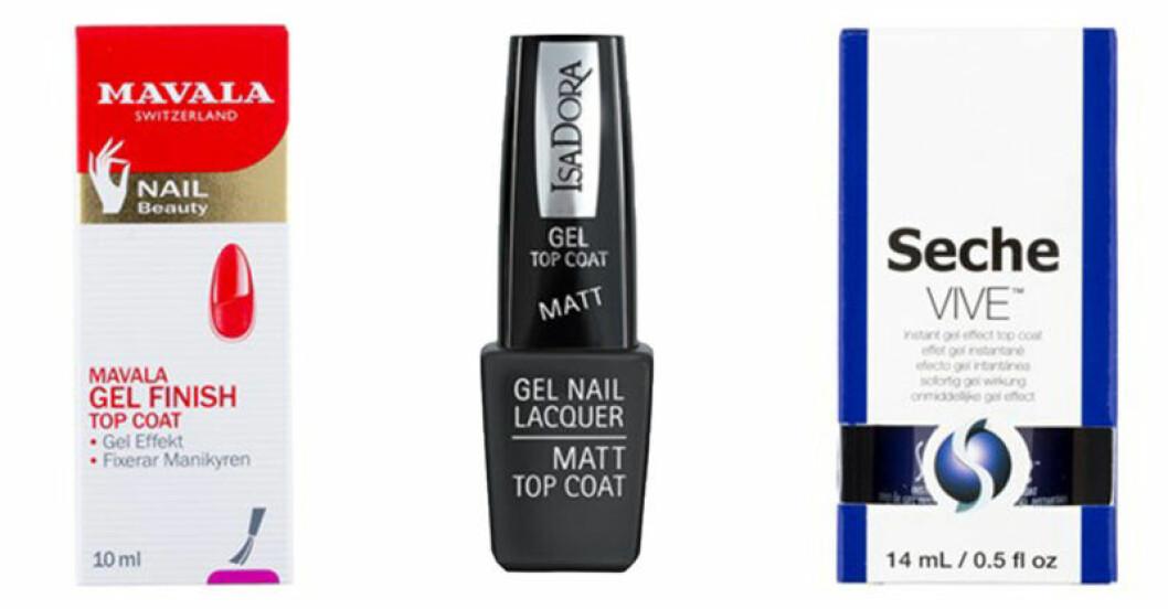 hållbara naglar med topcoat