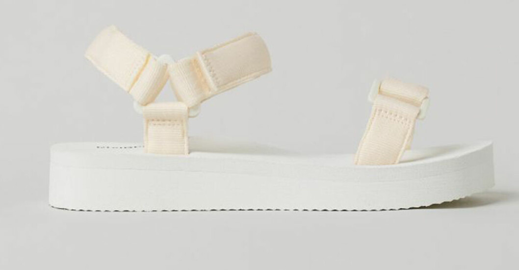 vita platta sandaler