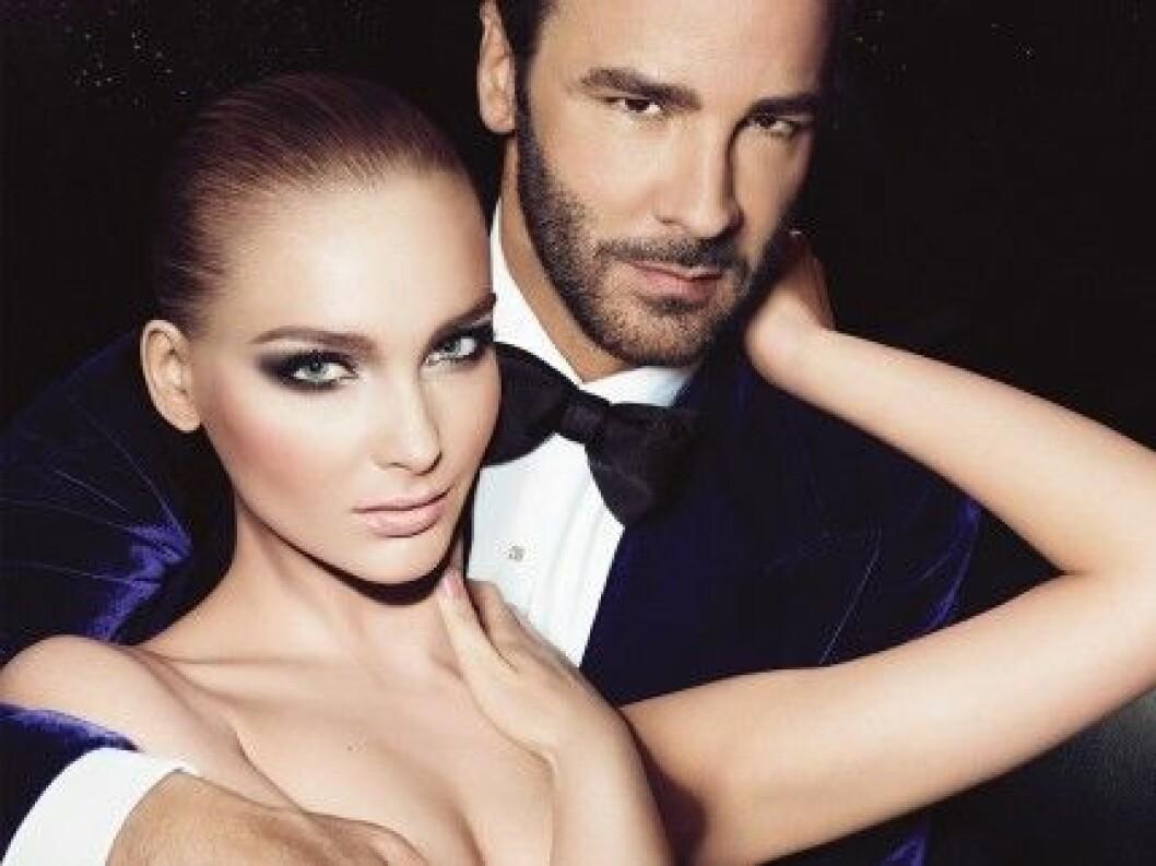 Tom Ford och modellen Snejana Onopka på en kampanjbild från 2012.