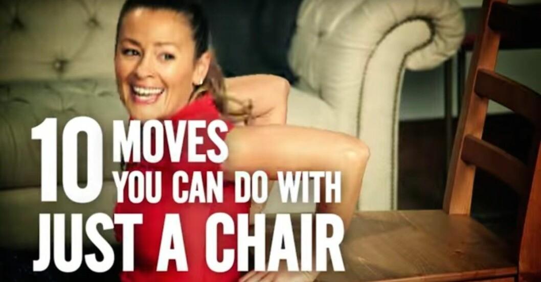 övningar med stol