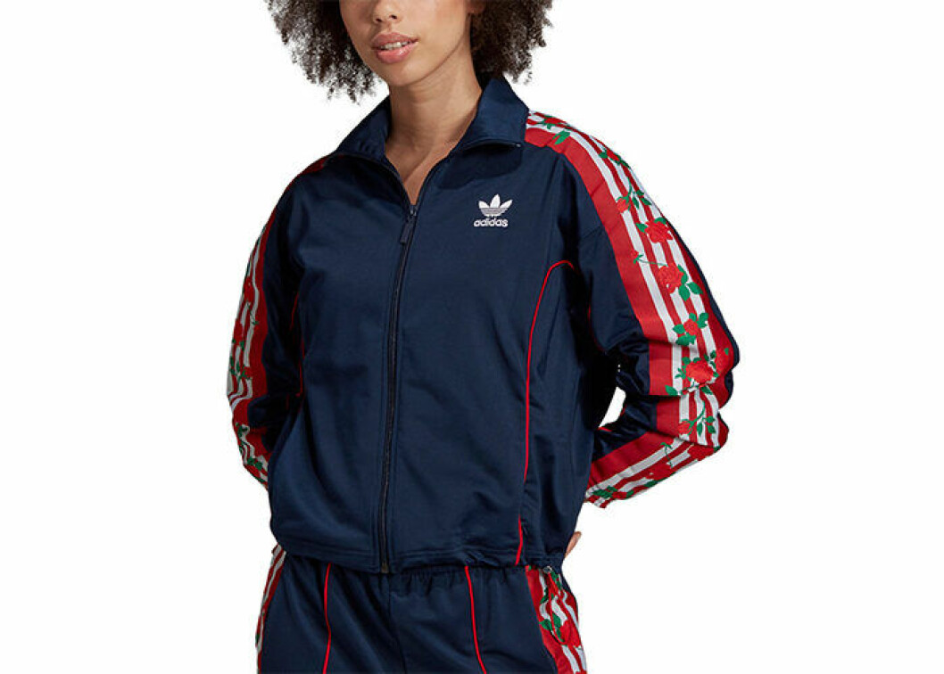 Träningsjacka i kort modell från Adidas