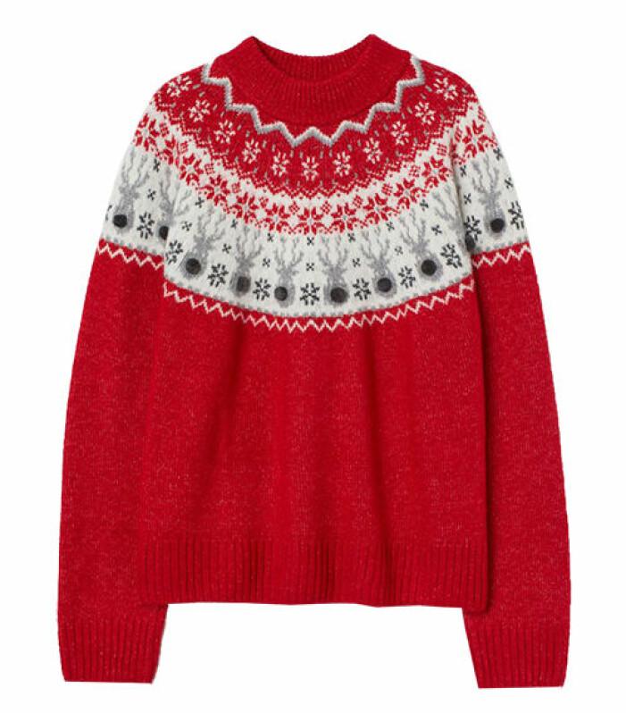 trendig jultröja till dam från hm