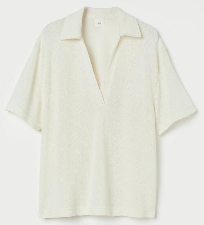 vit stickad tröja
