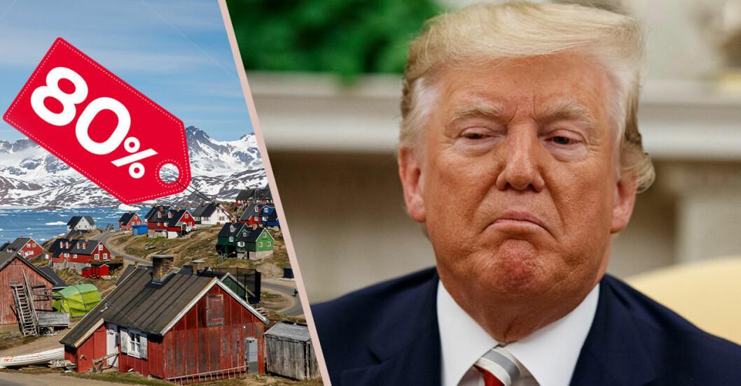 Trump och en prislapp på Grönland.