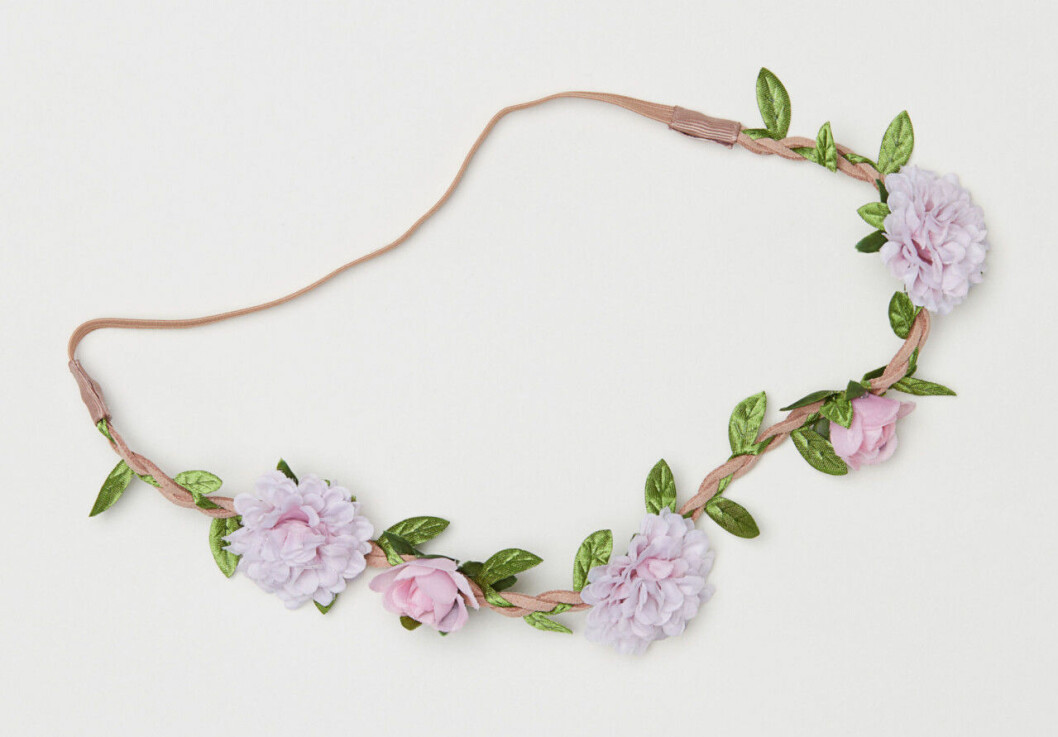 Tunn blomkrans i lila att köpa på H&M