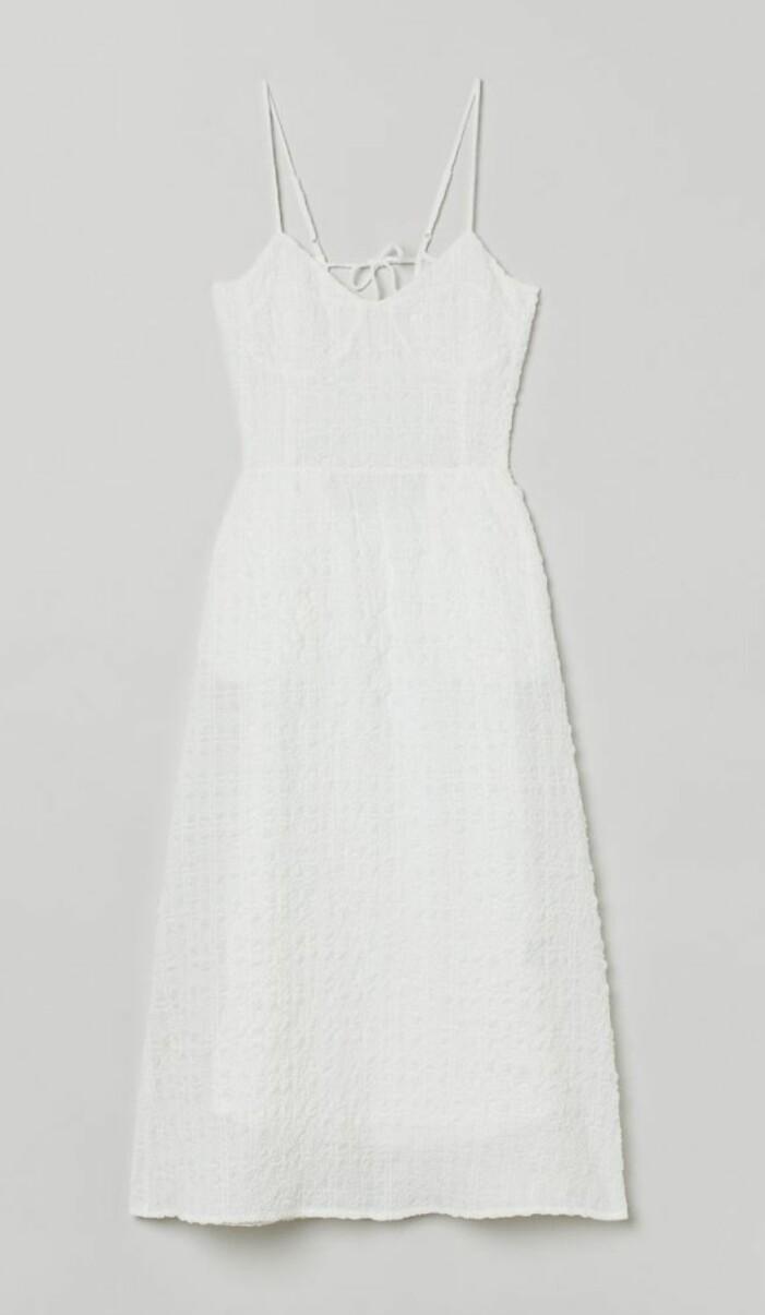 tunn vit klänning från H&M