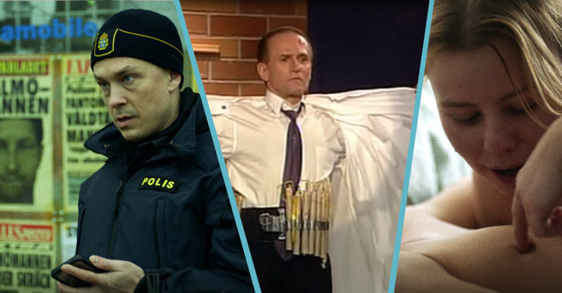 Magnus, Sara och Sten Frisk i Tunna blå linjen avsnitt 10.