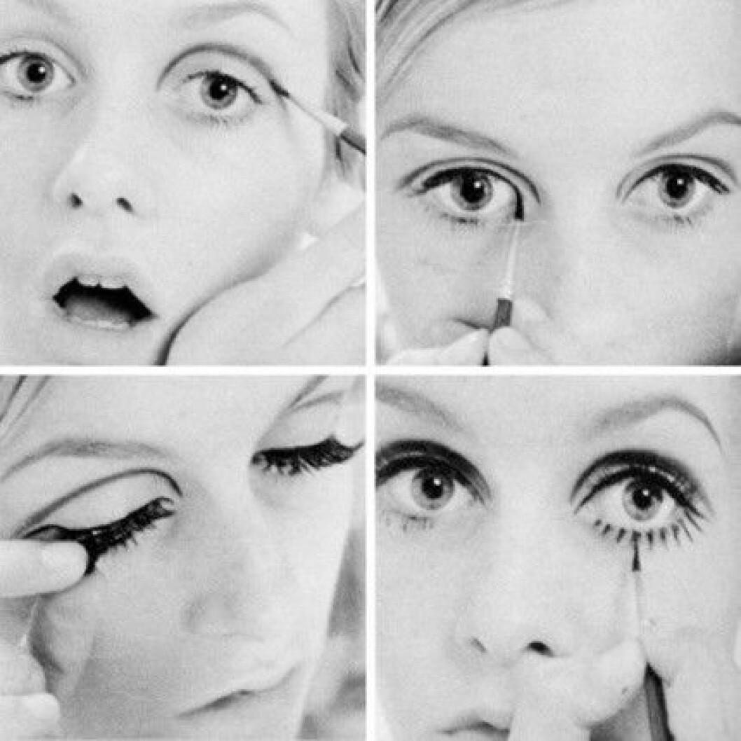 Twiggy var med och uppfann trenden med markerad eyeliner på 60-talet.