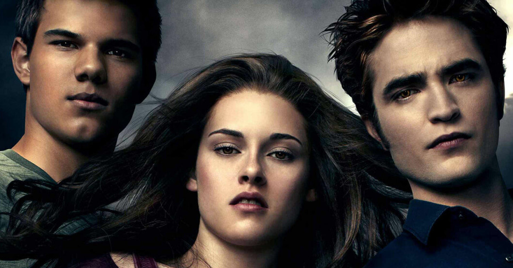 Jacob, Bella och Edward i Twilight.