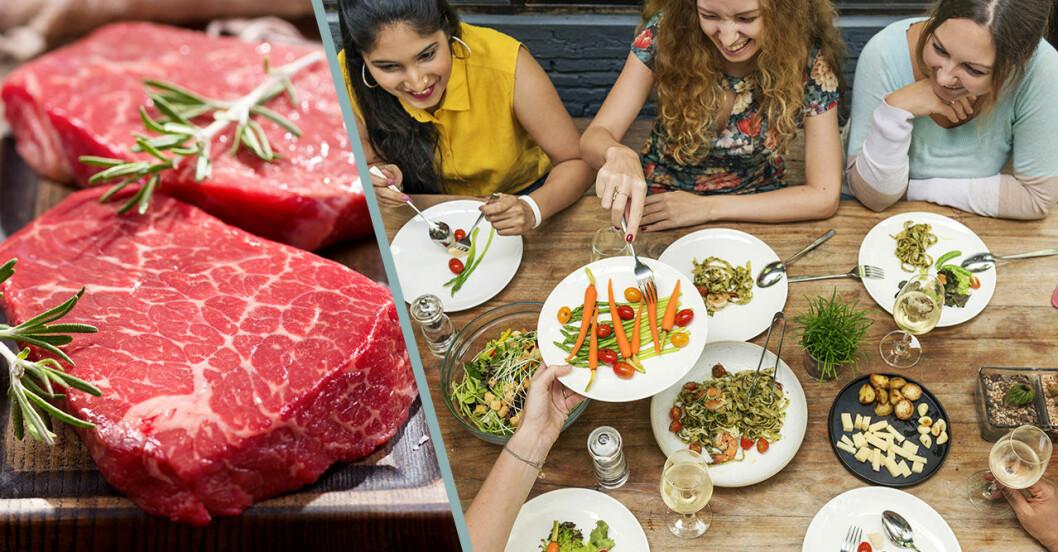 Unga slutar äta kött på grund av klimatfrågan