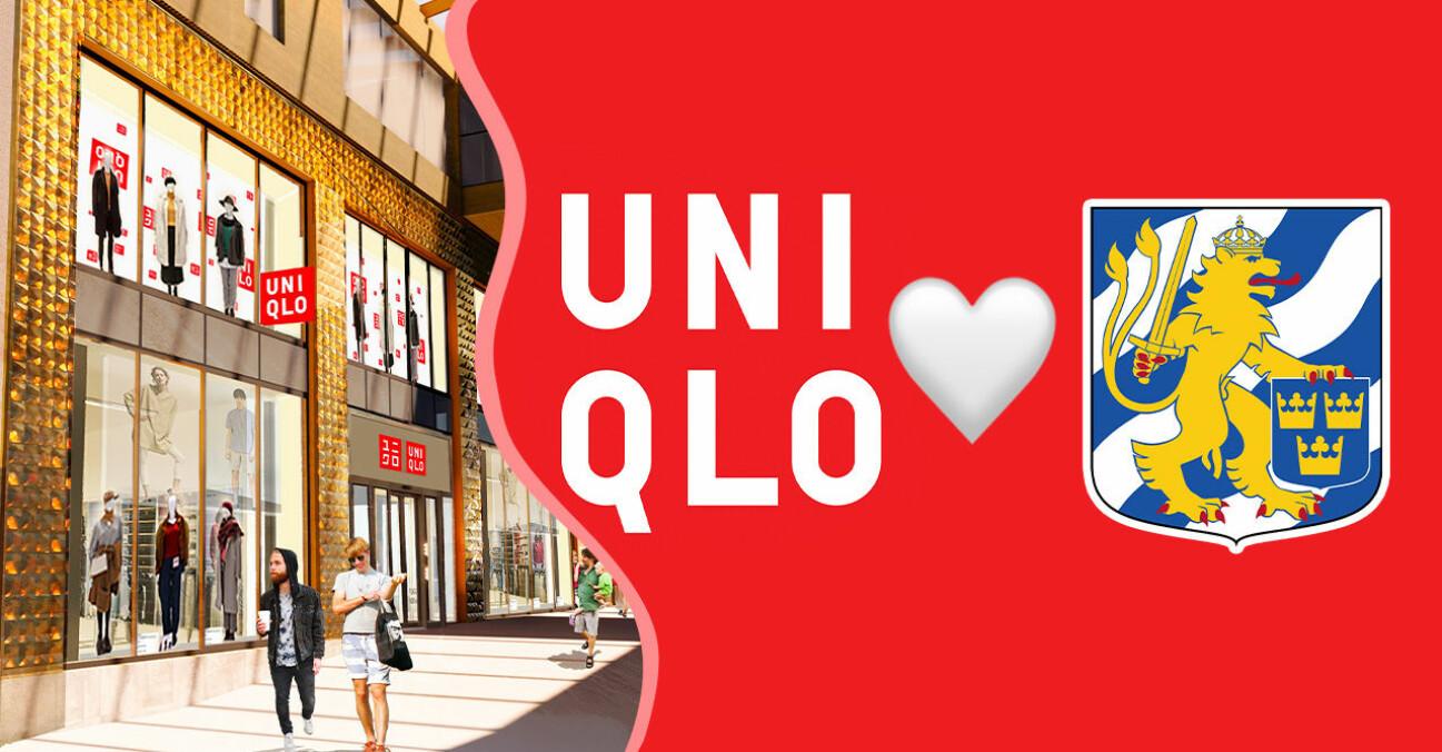 Uniqlo-butiken på Fredsgatan i Kompassen i Göteborg.