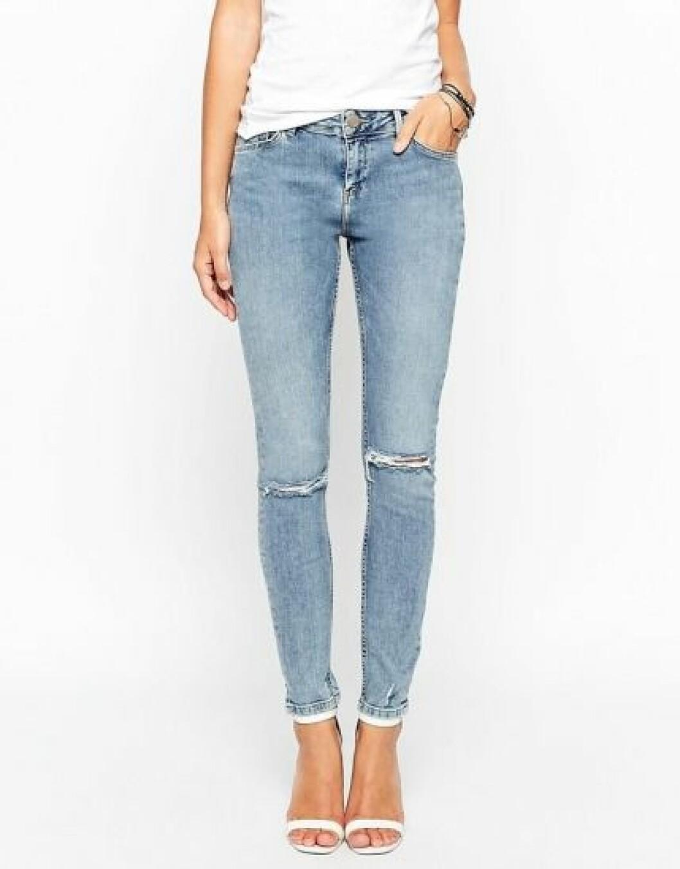 upprullade jeans