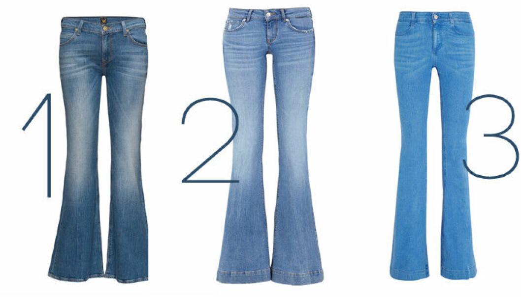 utsvängda jeans våren 2016