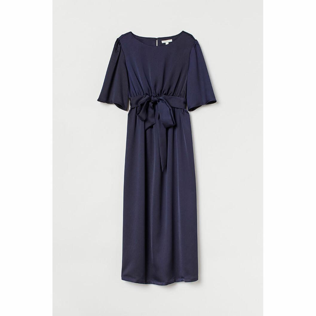 Blå gravidklänning från HM