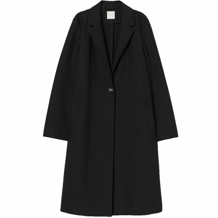 Svart enkelknäppt kappa från H&M