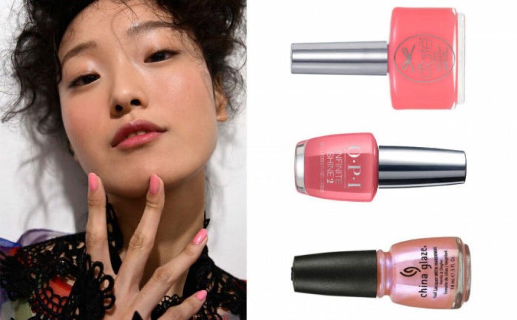 Varens-nageltrender-2017-rosa-naglar