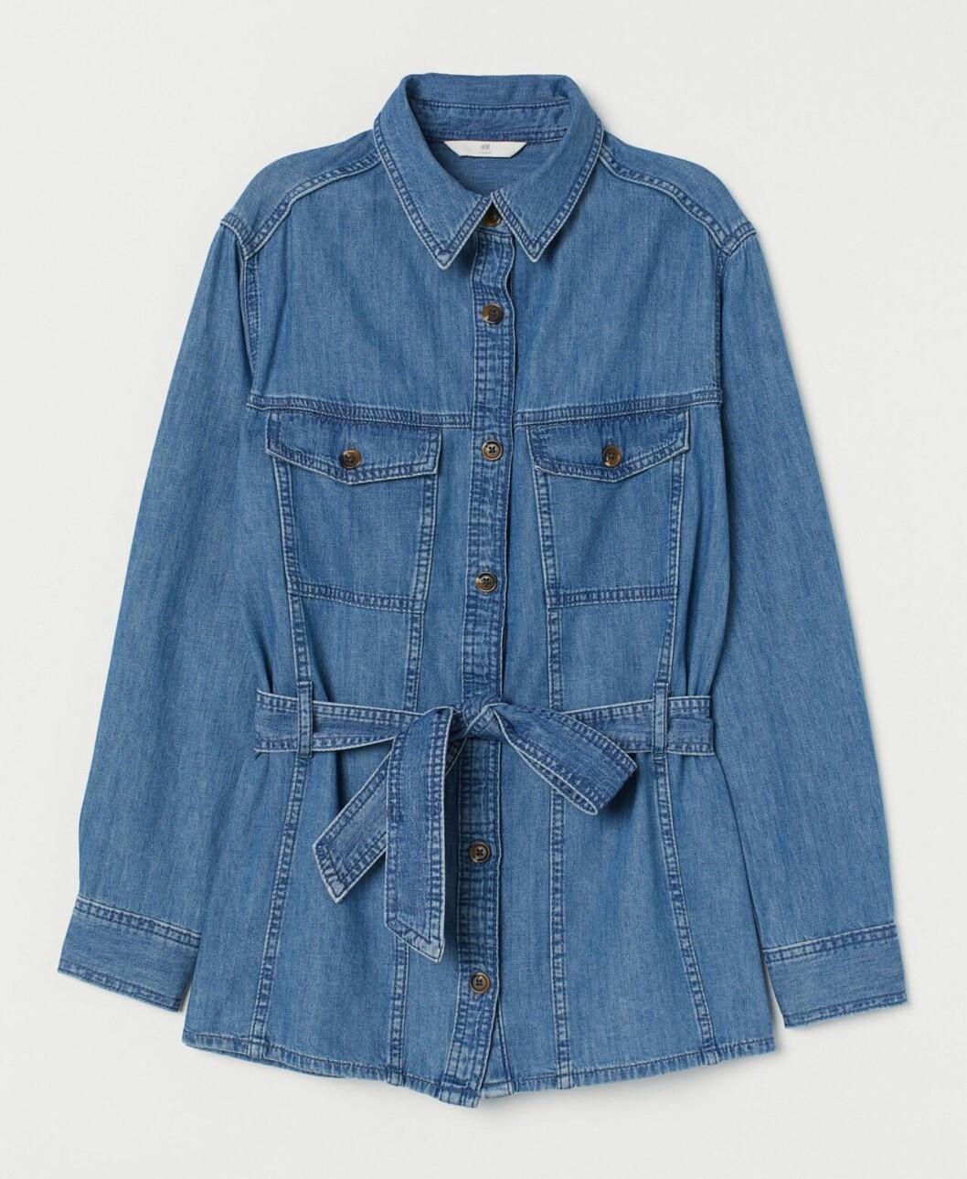 Vårjacka 2020: Jeansjacka med knytband i midjan