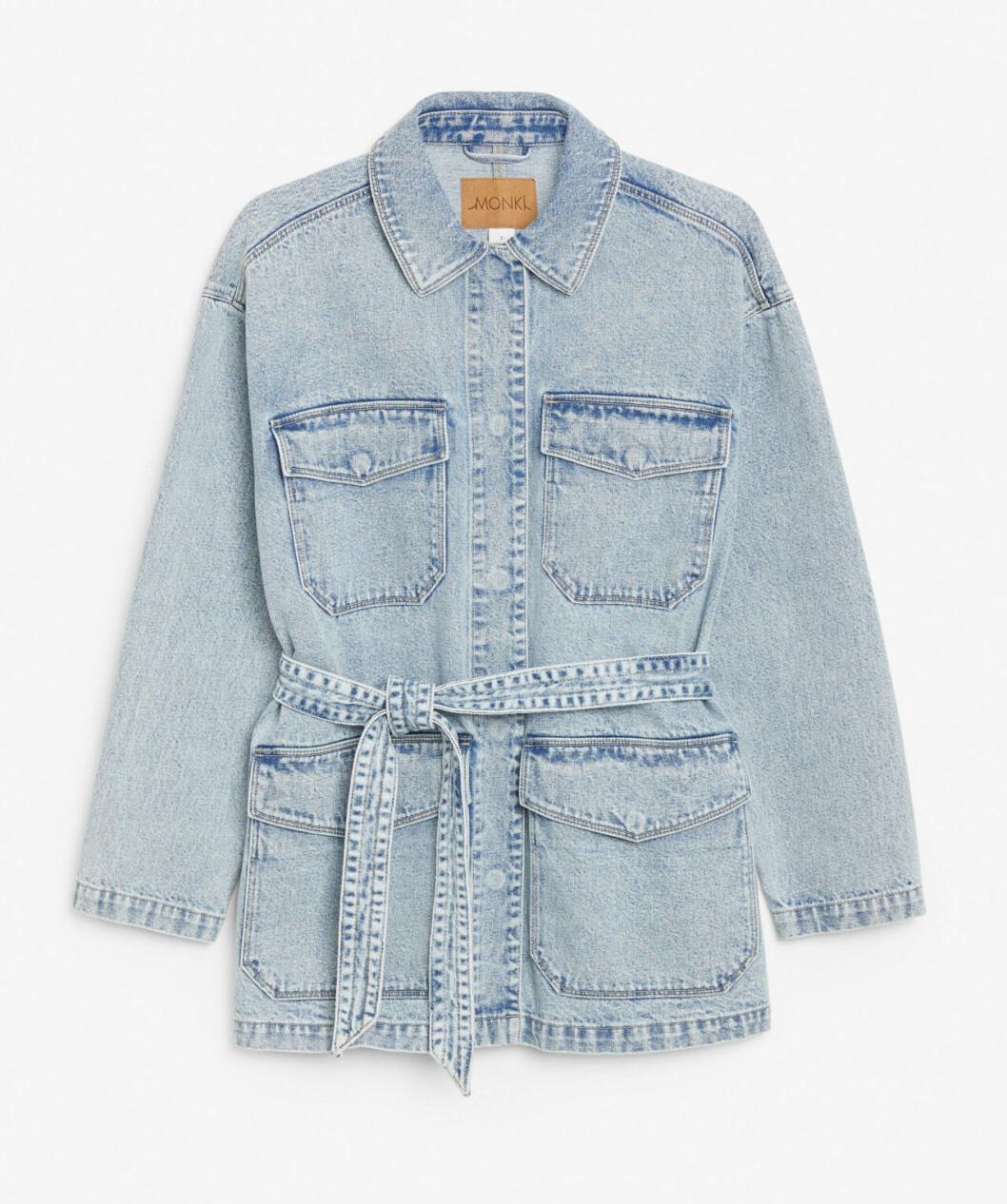 Jeansjacka med knytband för dam till våren 2020