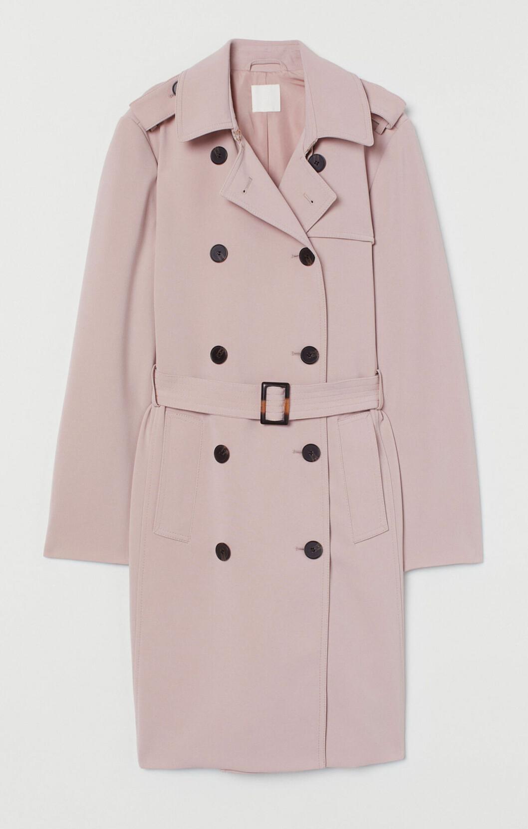 Vårkappa 2020: Ljusrosa trenchcoat från H&M