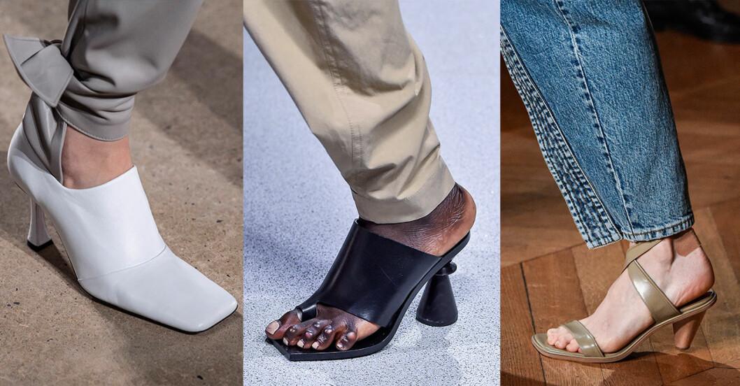 Vårmode 2020: Trendiga accessoarer –fyrkantig tå