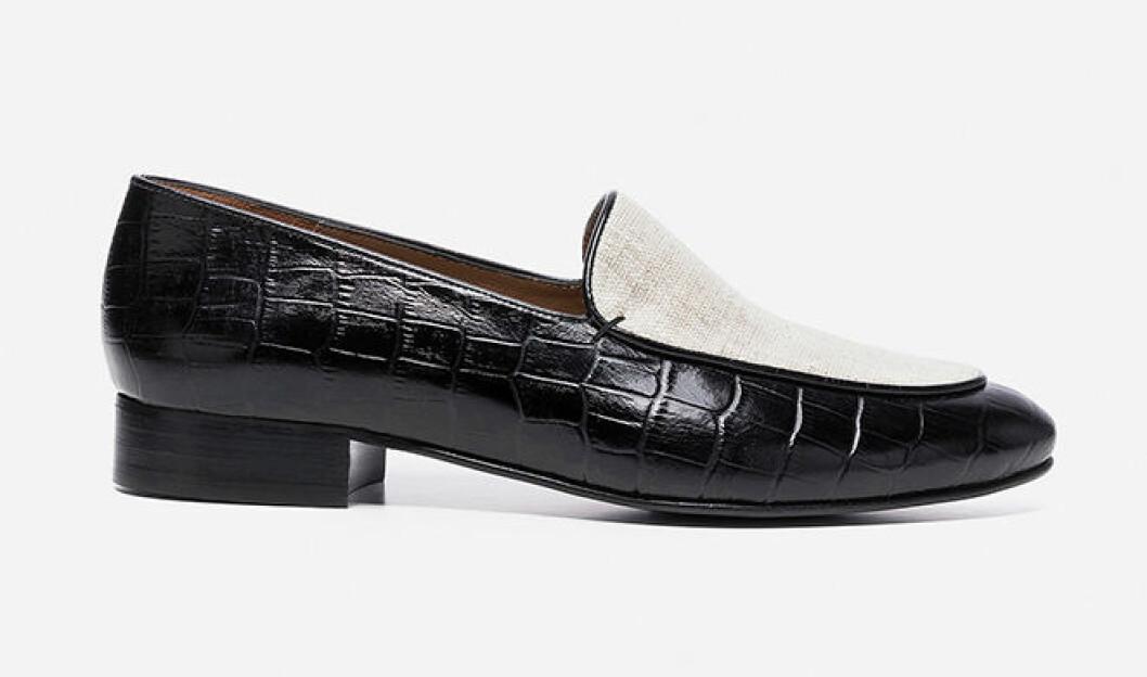 Svarta loafers för dam till våren 2019