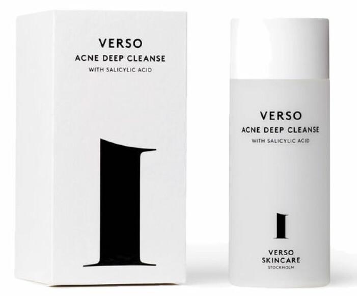 Verso är anti-inflammatorisk och är djuprengörande rengöring.