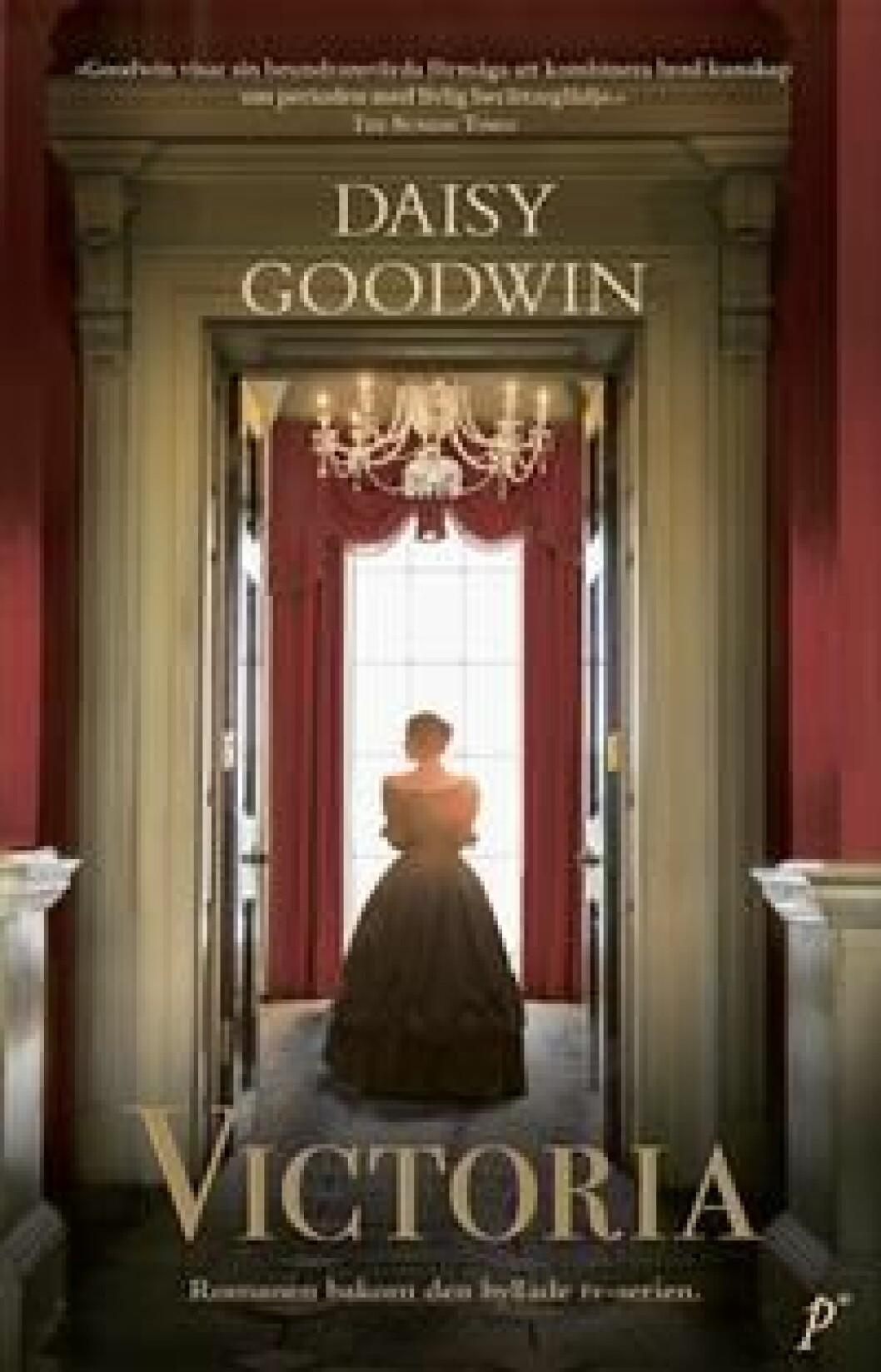 En bild på bokomslaget till romanen Victoria (Daisy Goodwin).