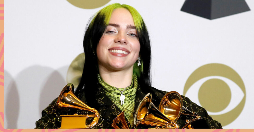 Billie Eilish på Grammy Awards 2020
