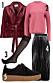 vinrott rosa outfit
