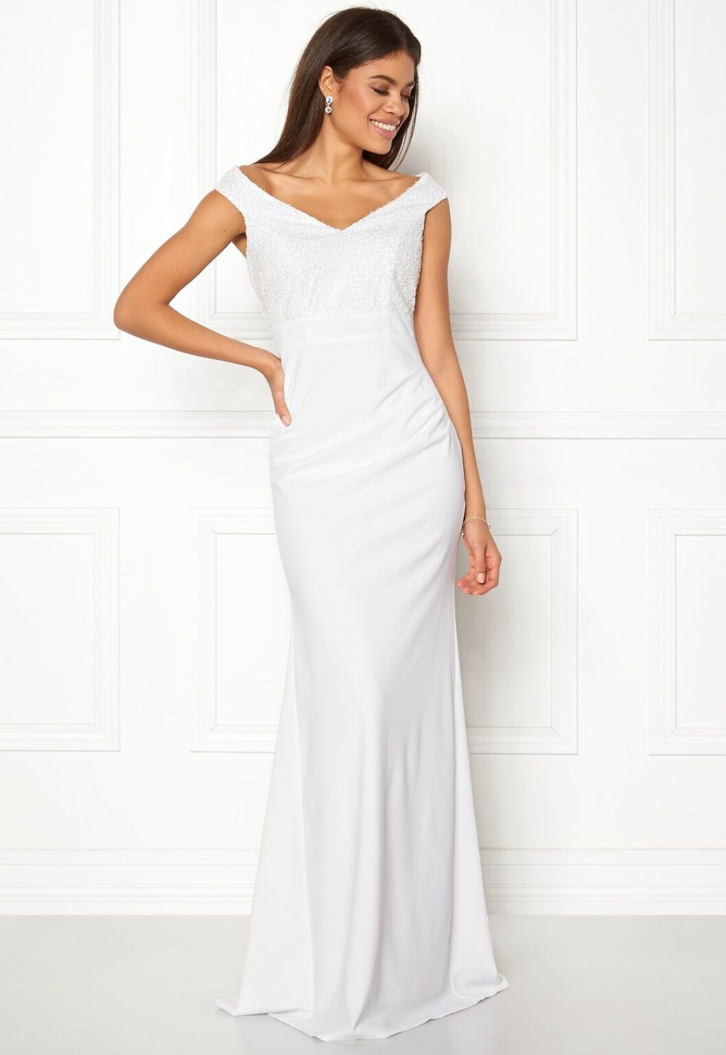 Billig bröllopsklänning med strass till 2019