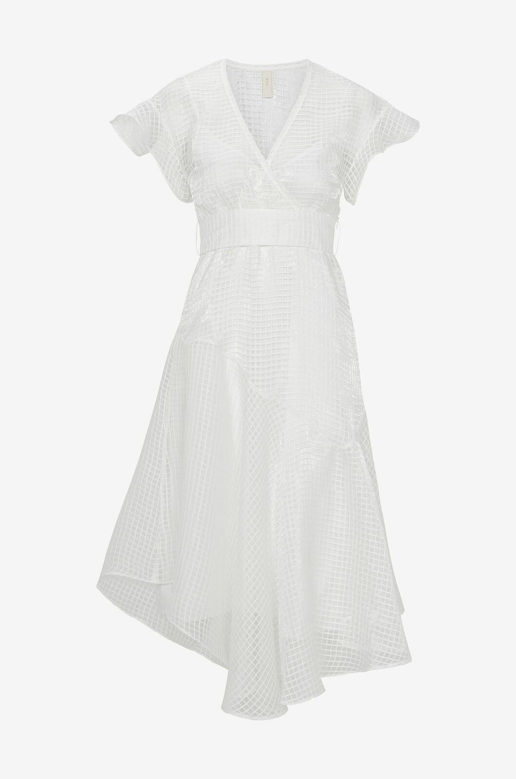 Vit enkel brudklänning med v-ringing