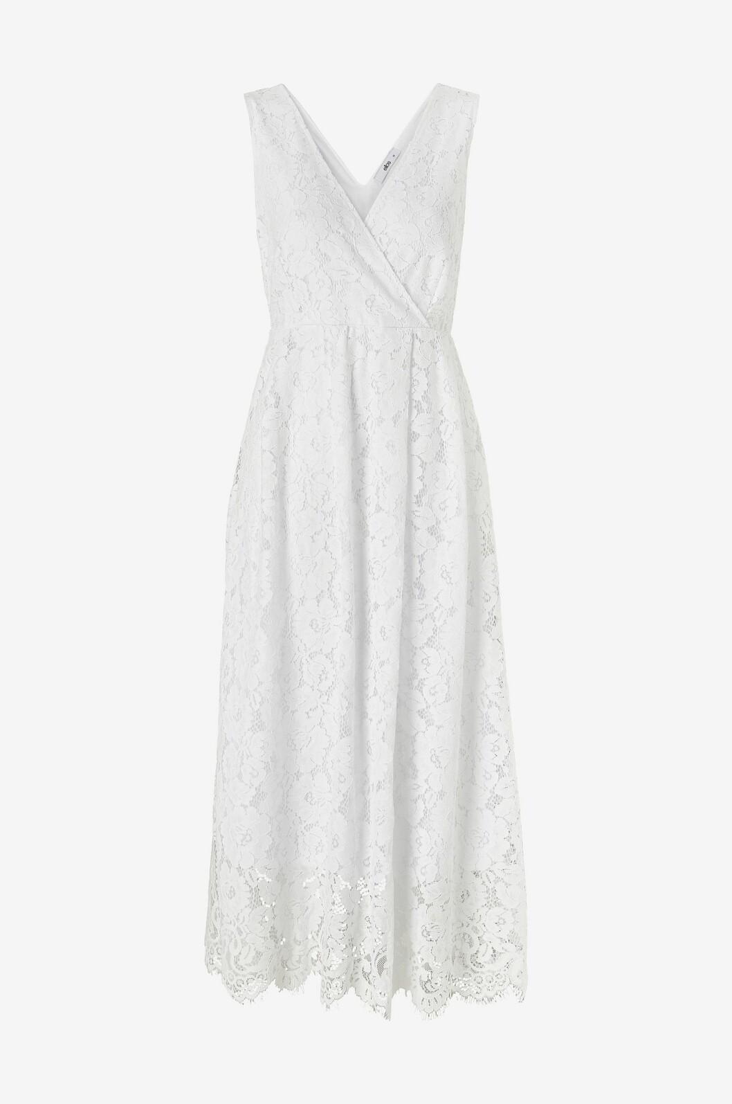 Vit enkel brudklänning i spets för dam till 2020
