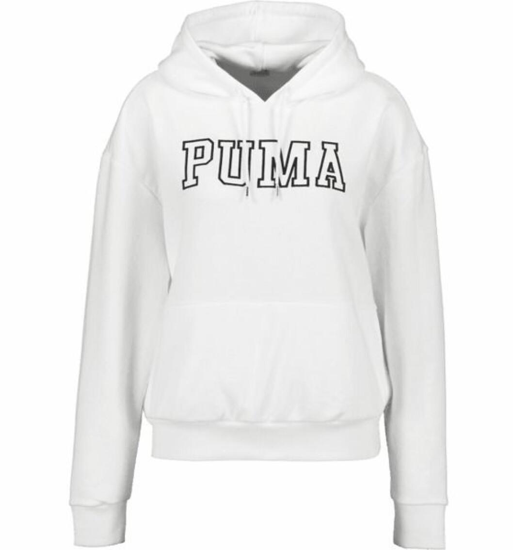 Vit hoodie från Puma