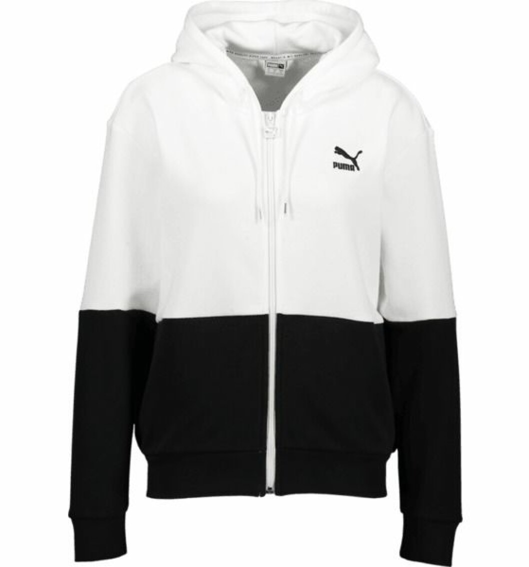 Svartvit hoodie från Puma