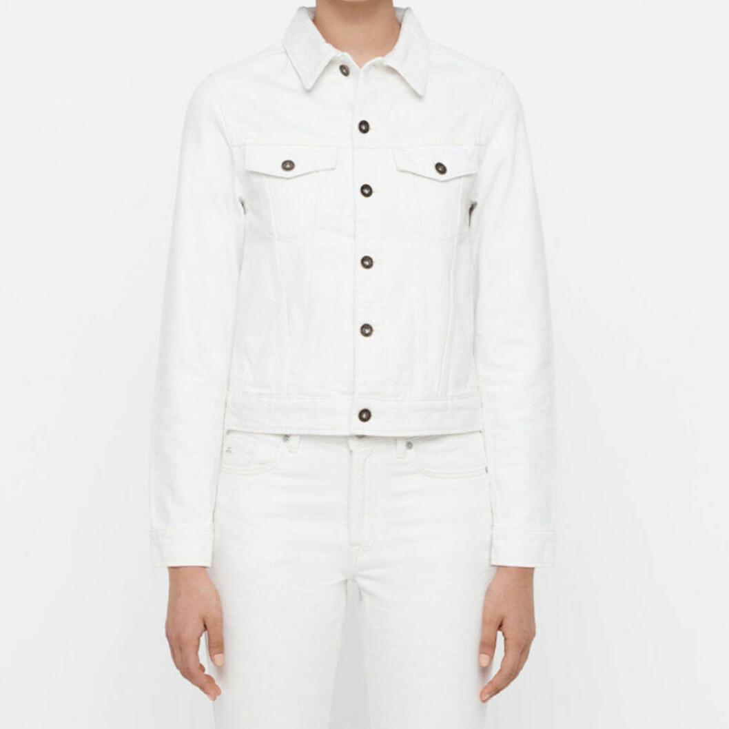 Jeansjacka i vit färg och kort modell