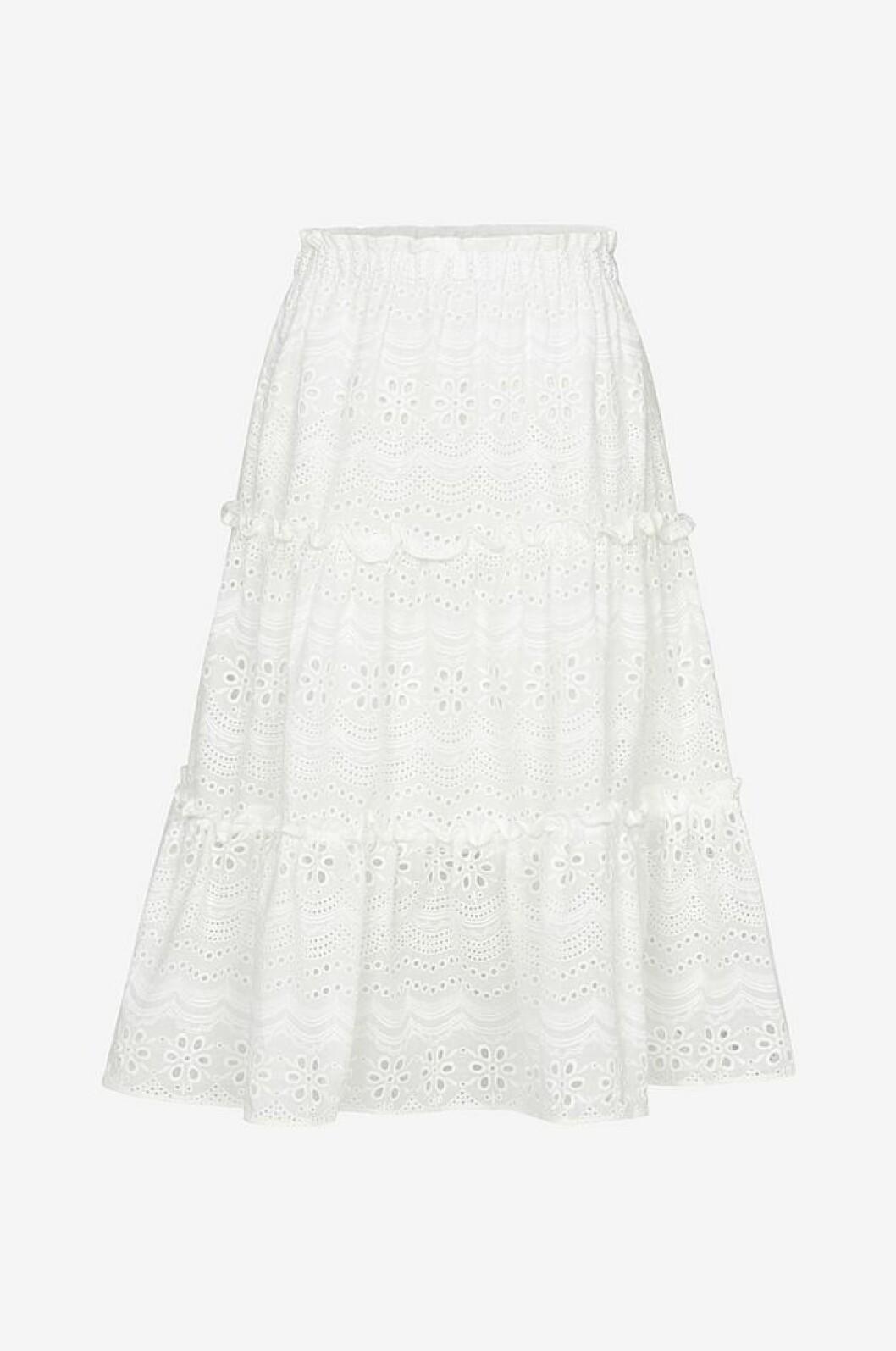 Vit kjol i vävd kvalité