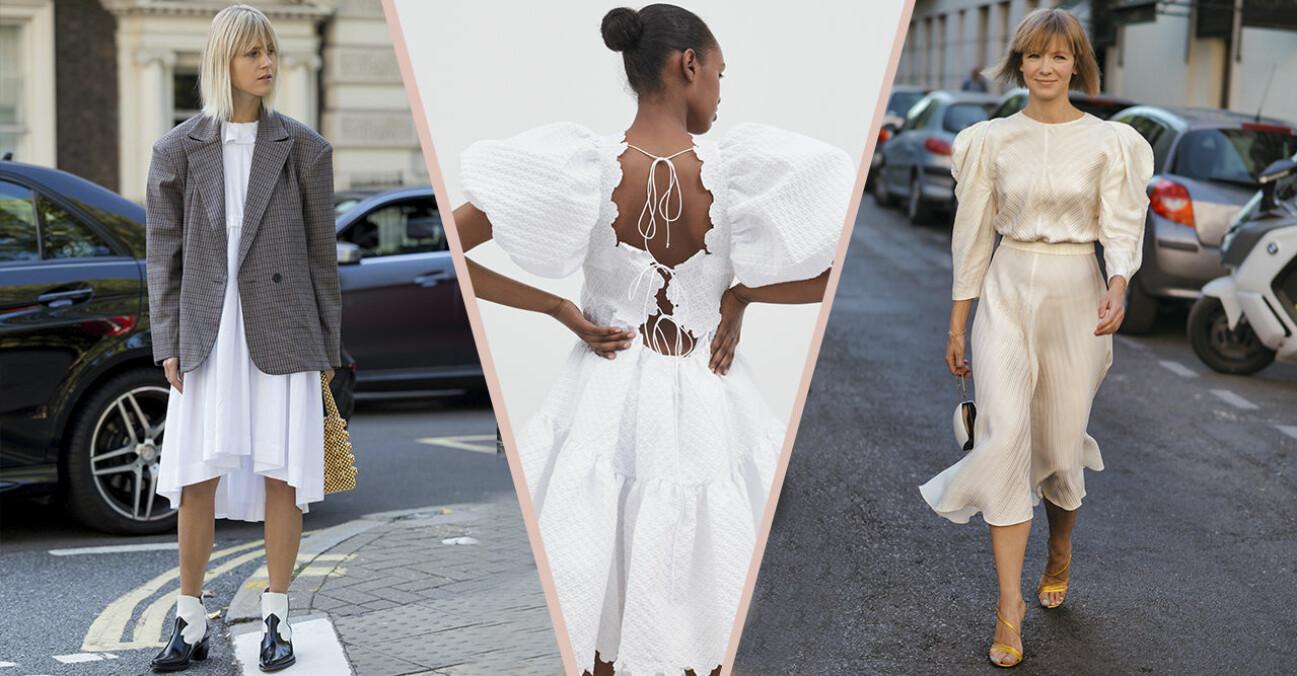 Vit klänning 2021