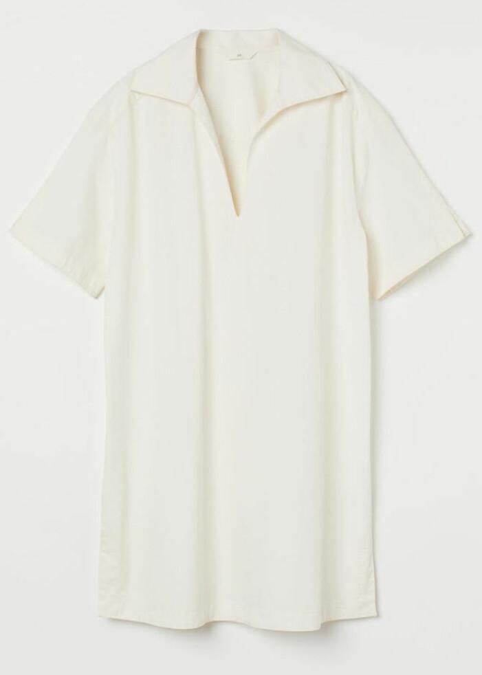 vit luftig klänning med krage