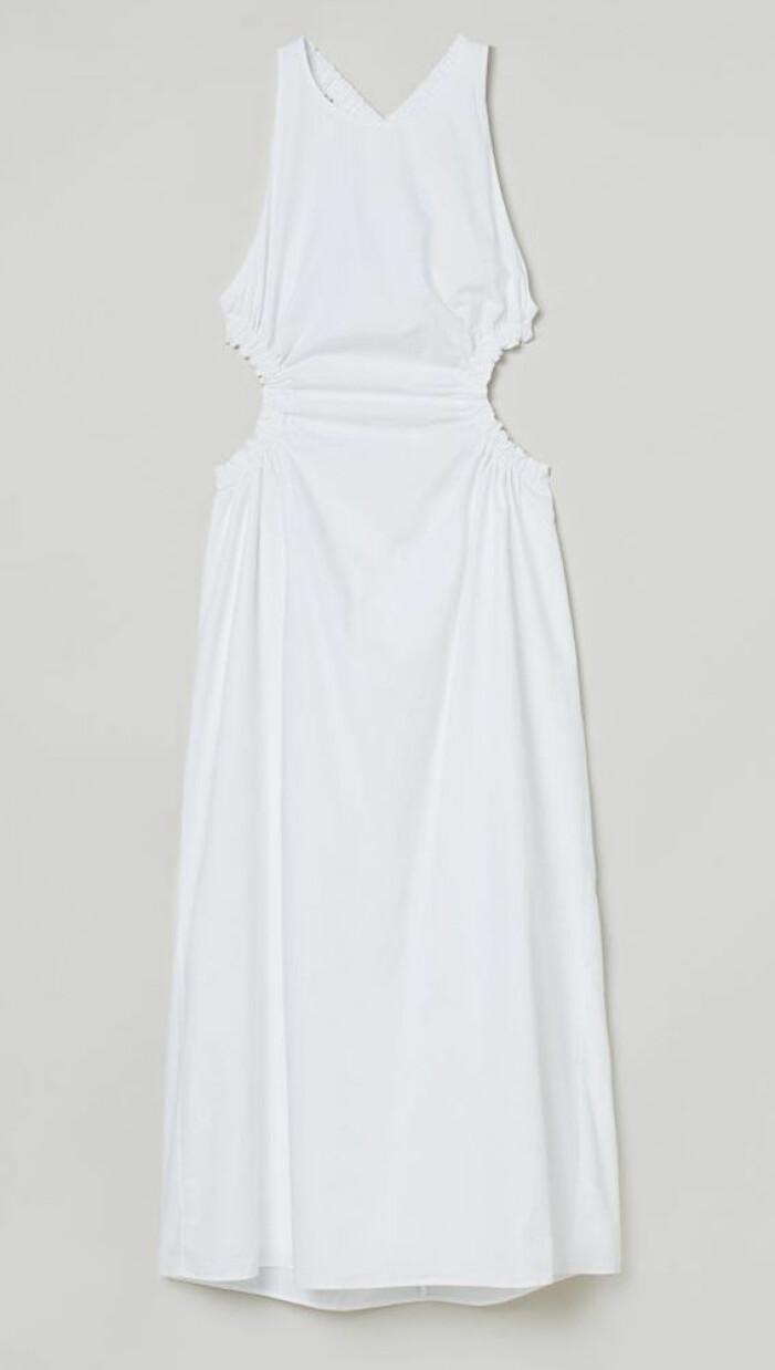 Vit klänning med cutout H&M