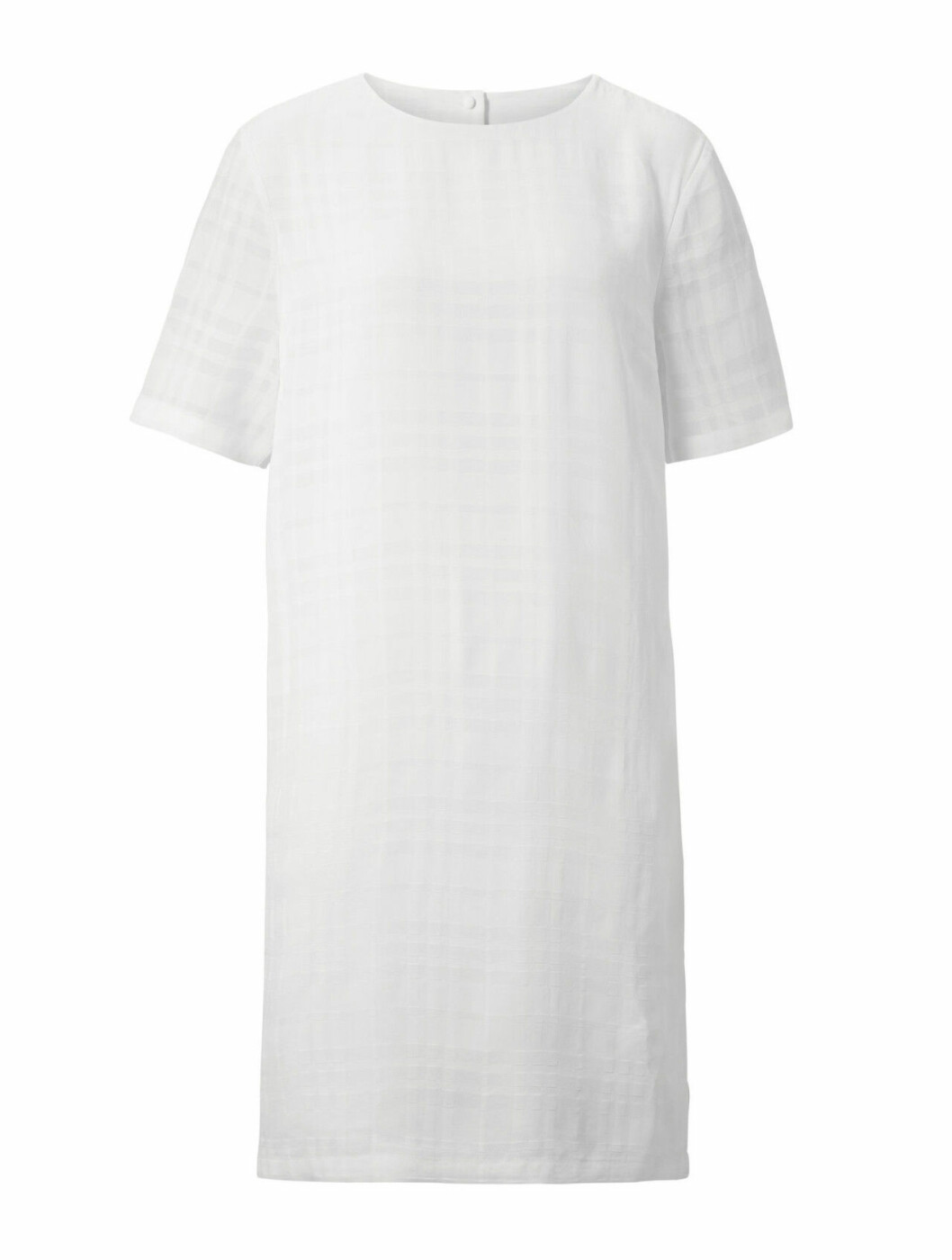 Vit klänning för dam med kort ärm till sommaren 2020