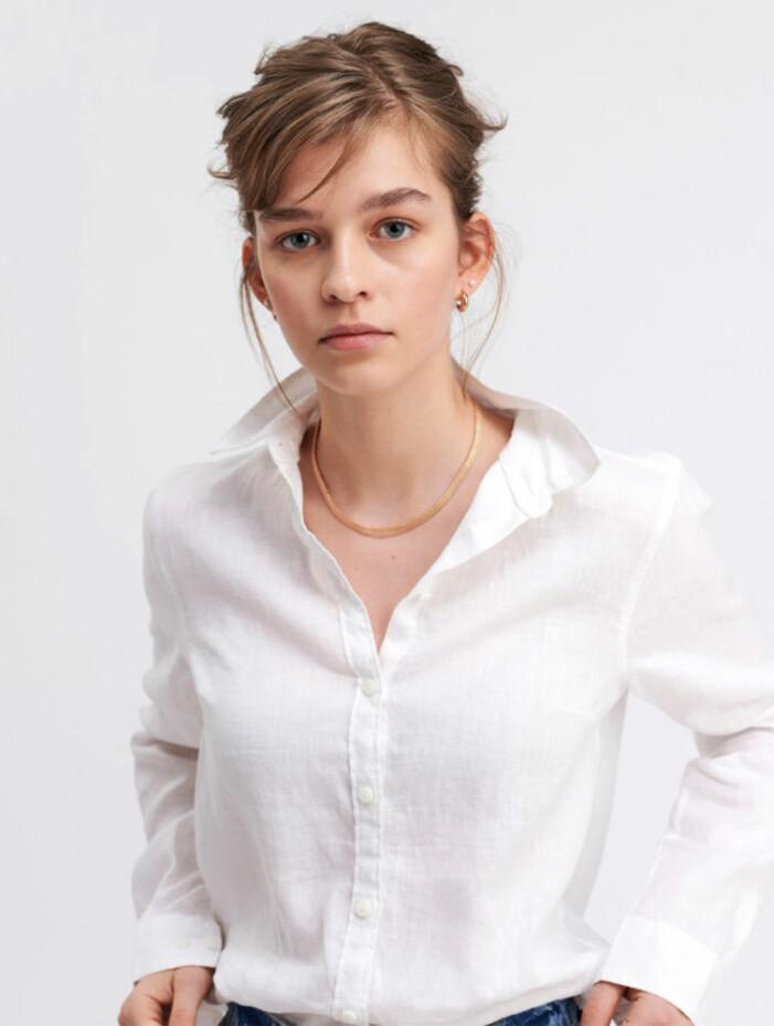 vit linneskjorta för dam 2021
